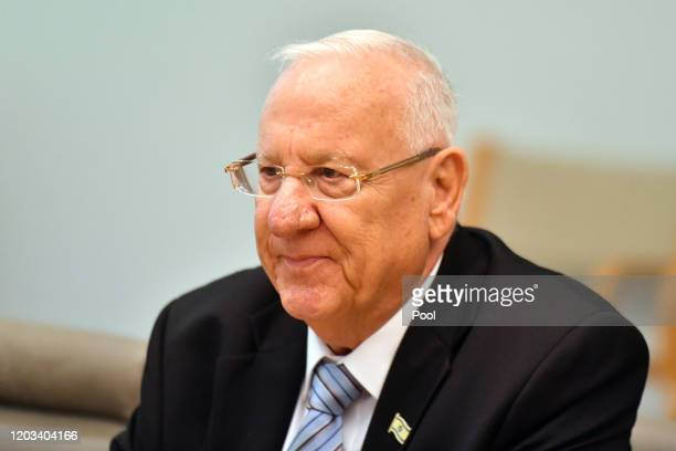 President of Israel Reuven Rivlin attends a bilateral meeting at Parliament House on February 26, 2020 in Canberra, Australia. This is the first...