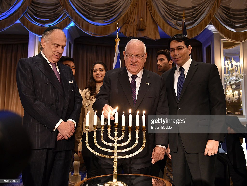 Ronald S. Lauder Festival Of Lights Event In Honor OfPresident Rivlin And Recognizing Ambassador Danon During Hanukkah