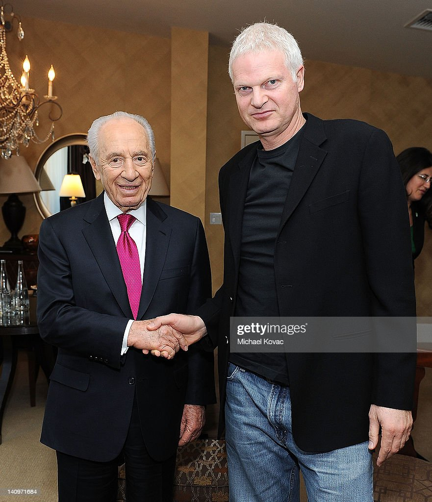 President Of Israel Shimon Peres Visits Los Angeles : Photo d'actualité