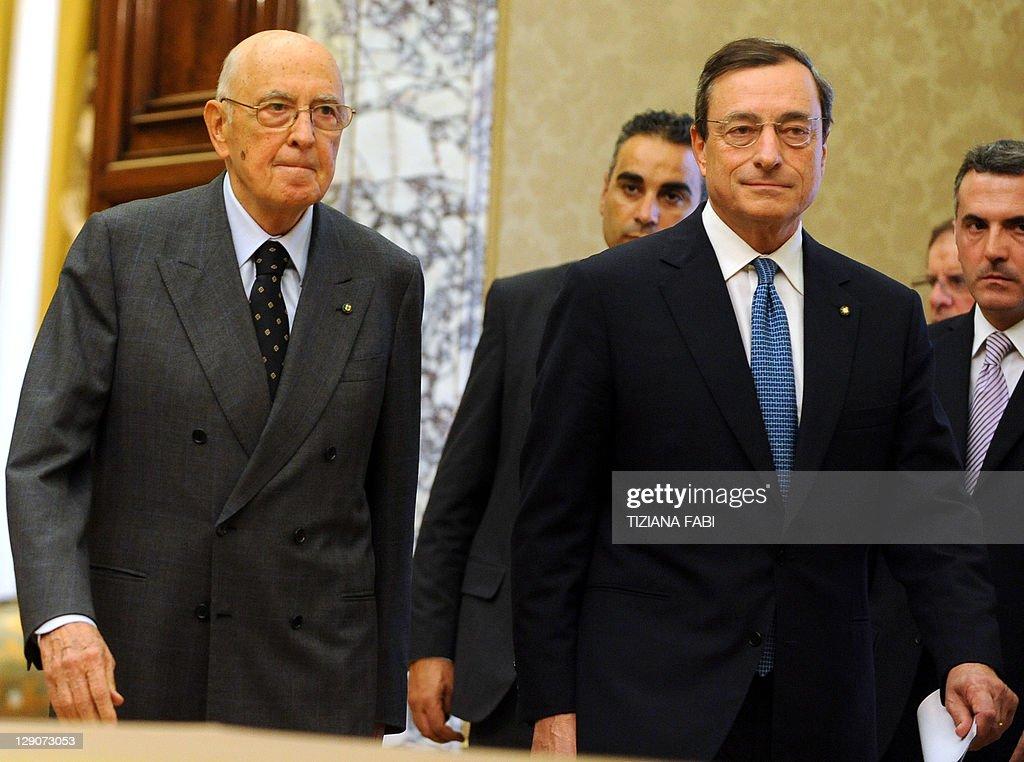 President of Italy Giorgio Napolitano ar : News Photo