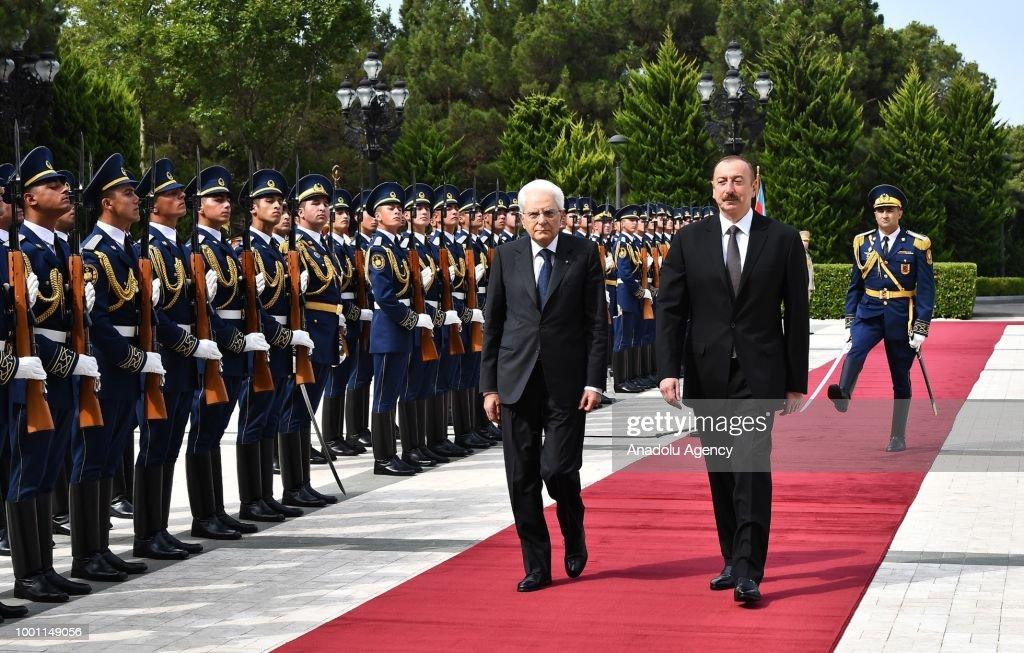 President of Italy Sergio Mattarella in Azerbaijan : News Photo