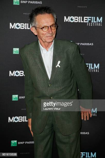President of Jury Director Patrice Leconte attends Mobile Film Festival 2018 at Mk2 Bibliotheque on March 13 2018 in Paris France
