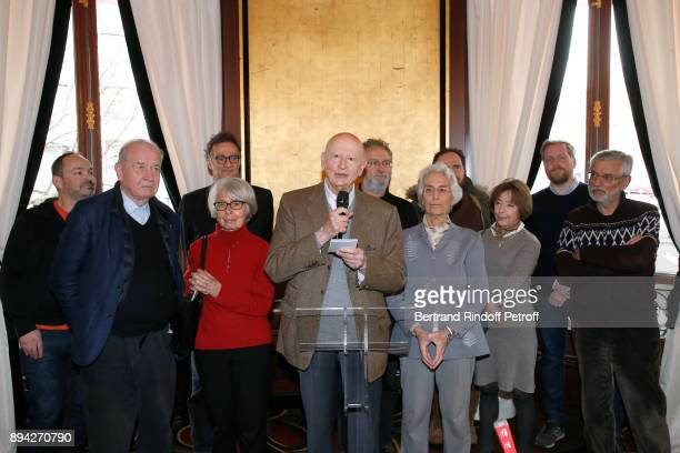 President of Jury Gilles Jacob and Members of the Jury including Daniele Heymann attend the 75th 'Prix Louis Delluc' Award Ceremony at Le Fouquet's...