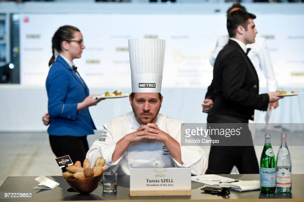 President of jury Tamas Szell looks on during the Europe 2018 Bocuse d'Or International culinary competition Best ten teams will access to the world...
