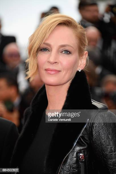 President of Jury Un Certain Regard Uma Thurman attends the 'Loveless ' screening during the 70th annual Cannes Film Festival at Palais des Festivals...