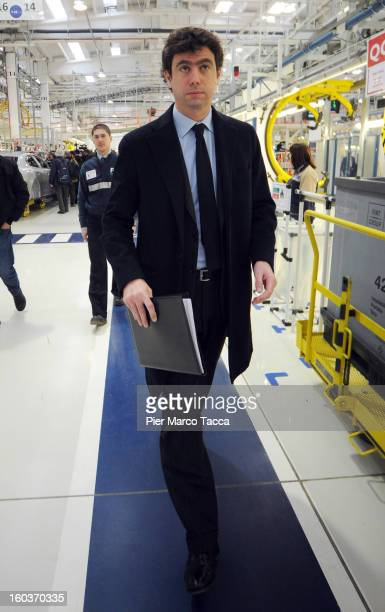President of Juventus FC Andrea Agnelli attends the unveiling of the new Maserati plant in Grugliasco which has been dedicated to Gianni Agnelli on...