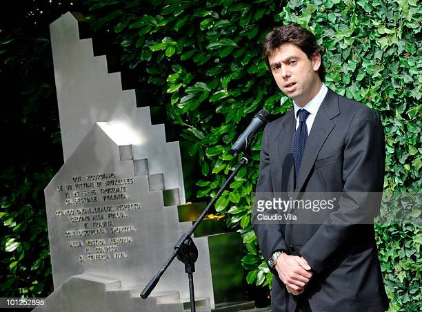 President of Juventus FC Andrea Agnelli during the Heysel commemorative ceremony on May 29 2010 in Turin Italy The ceremony remembers the disaster 25...