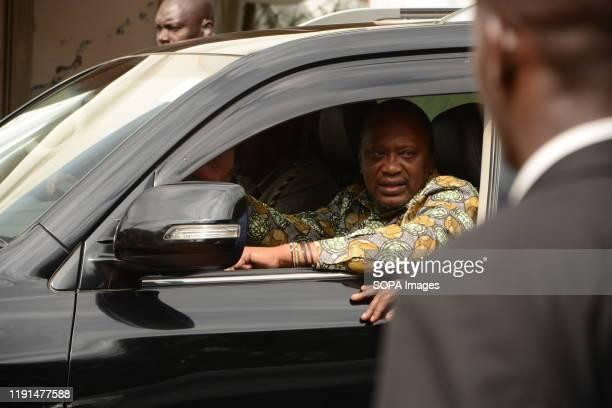 President of Kenya Uhuru Kenyatta leaves Bomas of Kenya in Nairobi after officially launching the Building Bridges Initiative report The report was...
