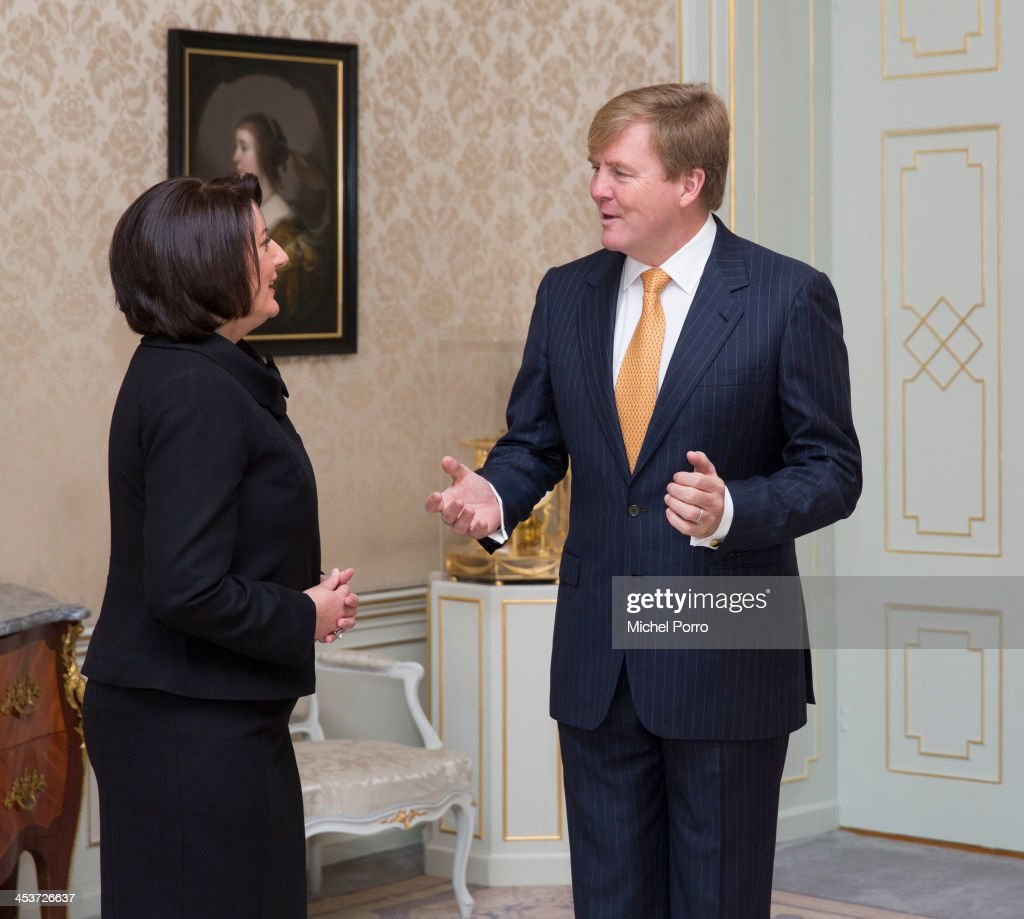 King Willem Alexander Welcomes Atifete Jahjaga, President Of Kosovo To THe Hague : News Photo