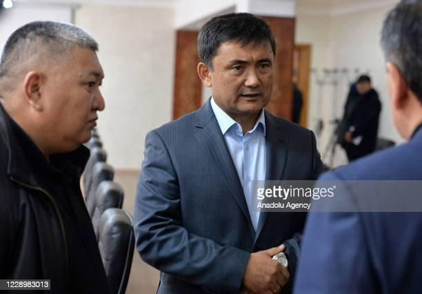 President of Kyrgyzstan Sooronbay Jeenbekov meets newly appointed Chief of General Staff Taalaibek Omuraliev the Presidency of General Staff as he...