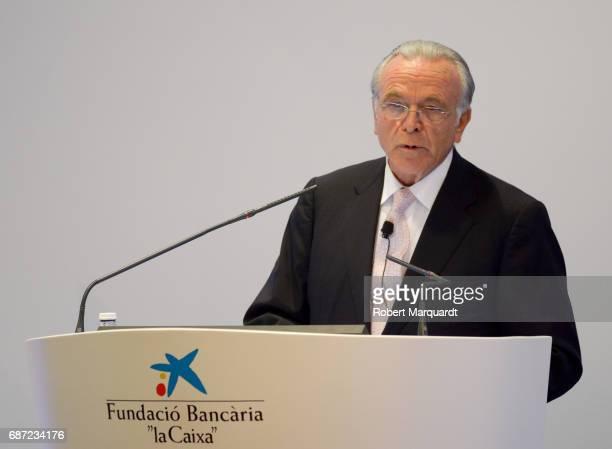 President of La Caixa Isidro Faine attends the 'La Caixa' Scholarships held at the headquarters for La Caixa on May 23 2017 in Barcelona Spain
