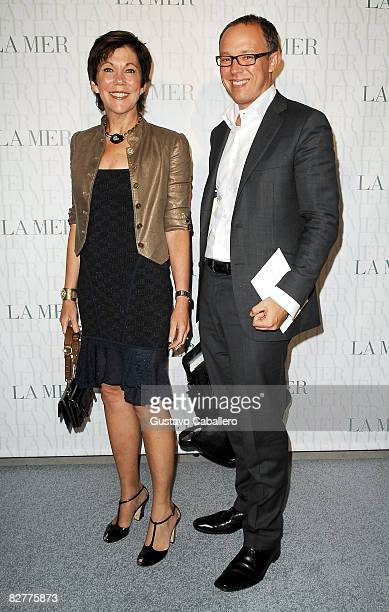 President of La Mer Maureen Case and Dominic DeVetta attend the Le Mer Celebrates Liquid Light By Fabien Baron at The Glass House on September 10...