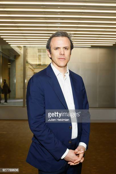 President of Lafayette Anticipations Guillaume Houze is pictured during the opening press day of The Galeries Lafayette Foundation on March 5 2018 in...