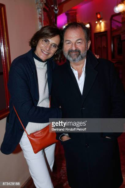 President of Lagardere Active and CEO of 'Europe 1' Denis Olivennes and Ines de La Fressange attend 'Depardieu Chante Barbara' at 'Le Cirque D'Hiver'...