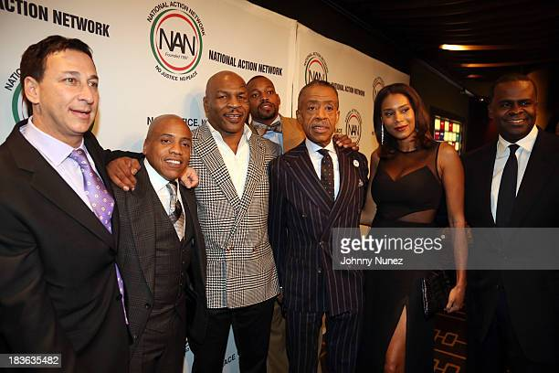 President of Lagardere Unlimited Football Joel Segal Media executive Kedar Massenburg honoree and former boxing world champion Mike Tyson President...