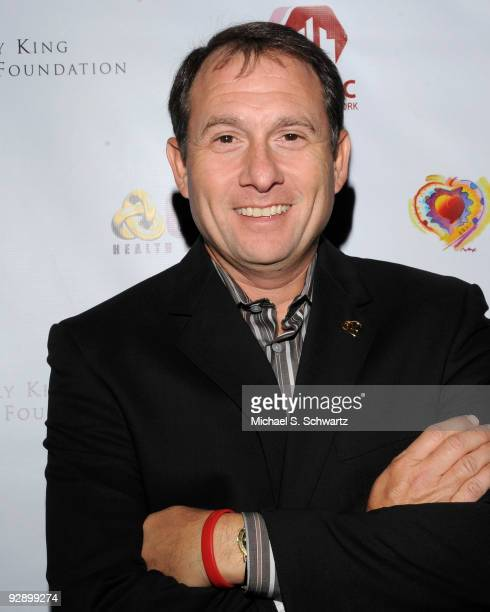 President of Larry King Cardiac Foundation Larry King Jr attends the Larry King Cardiac Foundation and COPE Health Solutions' comedy fundraiser at...