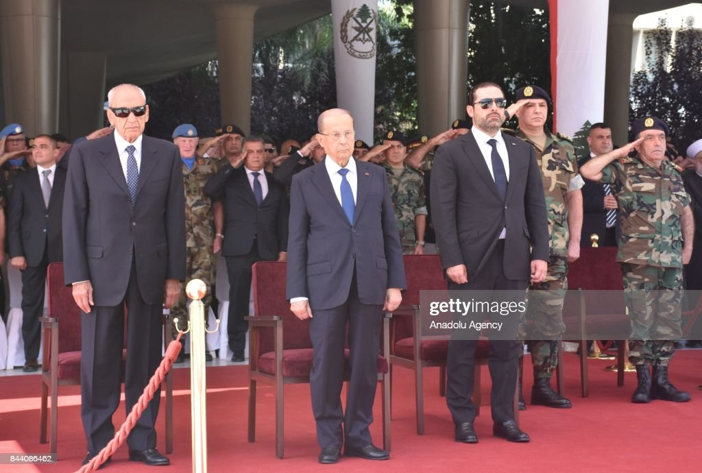 Funeral ceremony of 10 Lebanese soldiers in Beirut : Nachrichtenfoto