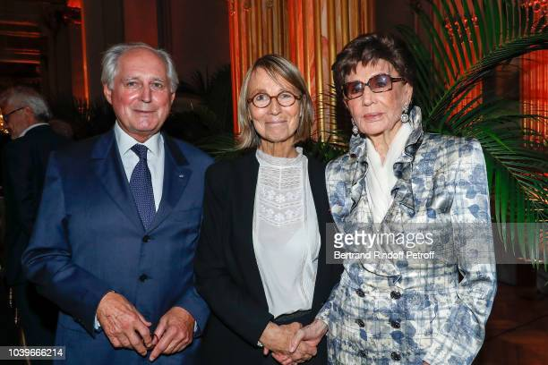 President of Les Amis du Musee d'Orsay JeanLouis Milin Francoise Nyssen and Countess Jacqueline de Ribes attend Societe des Amis du Musee D'Orsay...