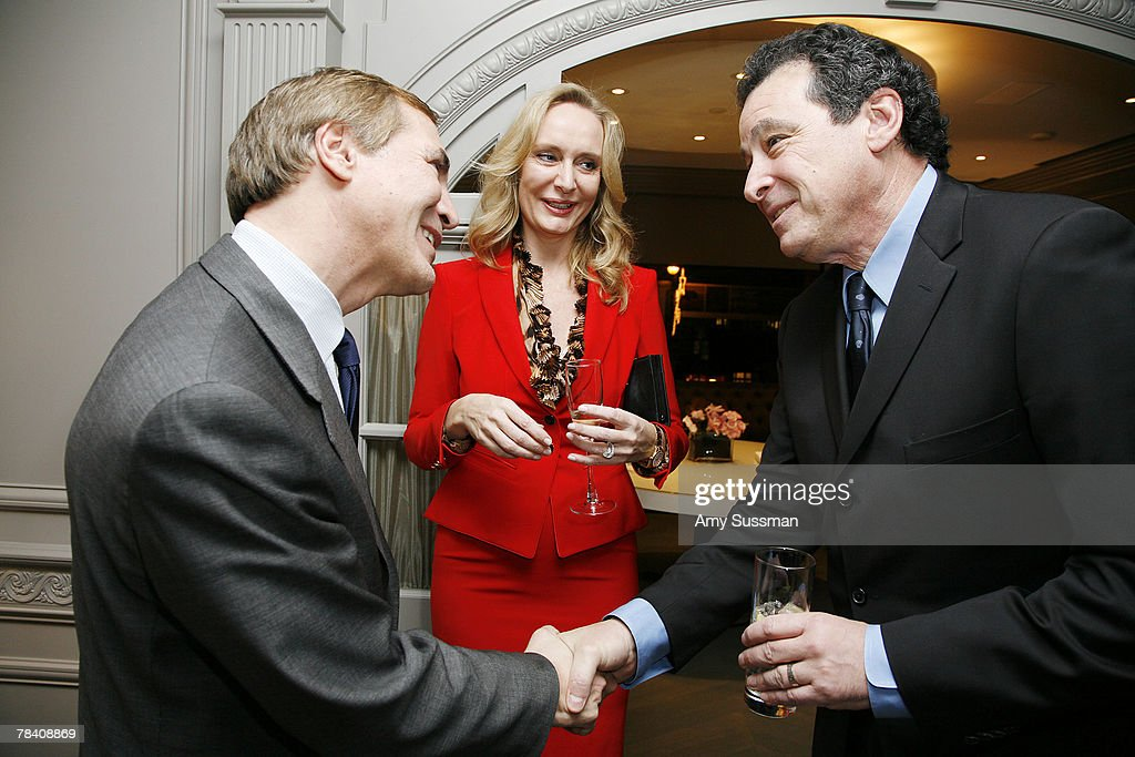 President of Leviev Thierry Chaunu, Maire Claire Gladstone and Robert Gladstone attend the Leviev Diamonds and Elite Traveler holiday cocktail party at Leviev Diamonds December 11, 2007 in New York City.