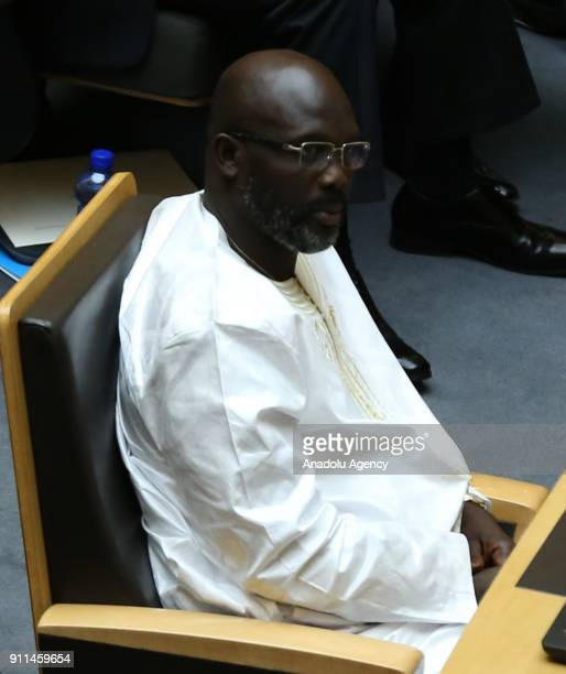President of Liberia George Weah attends the 30th African Union Heads of State and Government Summit in Addis Ababa Ethiopia on January 28 2018