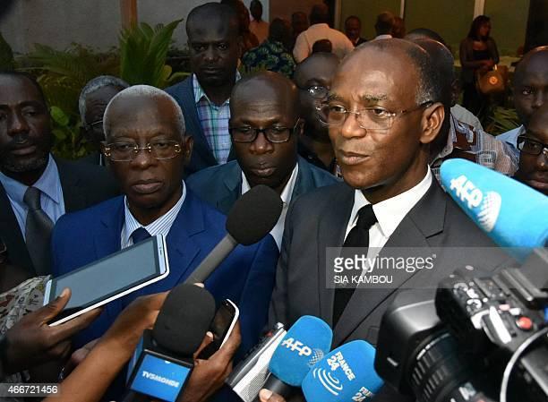 President of Liberté et démocratie pour la République party Mamadou Koulibaly Aboudramane Sangare of Front Populaire Ivoirien party answers...