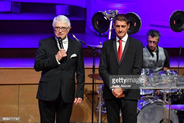President of LNB Alain Beral and president of FFBB Jean Pierre Siutat during the Trophy Award LNB Basketball at Salle Gaveau on May 16 2018 in Paris...