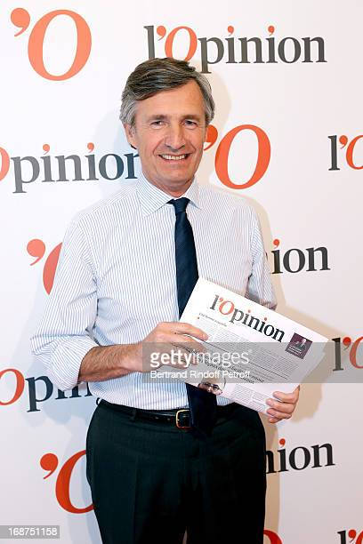 President of L'Opinion Nicolas Beytout attends 'L'Opinion' Newspaper Launch Party on May 14 2013 in Paris France