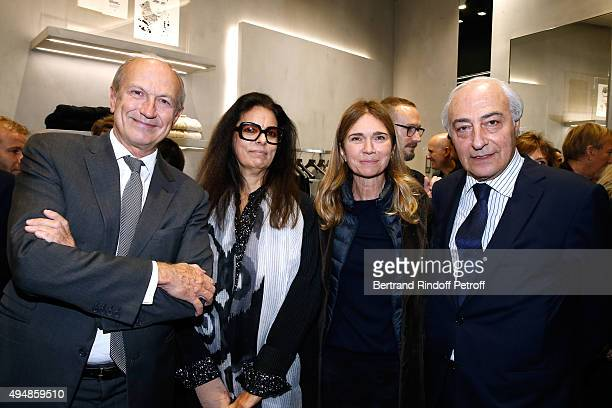 President of l'Oreal JeanPaul Agon Francoise Bettencourt Meyers Sophie Agon and JeanPierre Meyers attend the Opening of the Collection 'Exemplaire x...