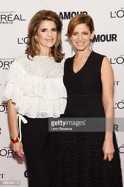 President of L'Oreal Paris Karen Fondu and Glamour editor in chief Cynthia Leive attend 2015 Glamour Women Of The Year Awards at Carnegie Hall on...