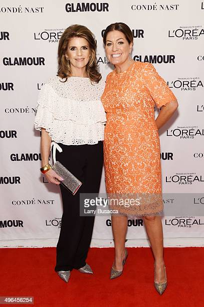 President of L'Oreal Paris Karen Fondu and Glamour Publisher Connie Anne Phillips attend 2015 Glamour Women Of The Year Awards at Carnegie Hall on...