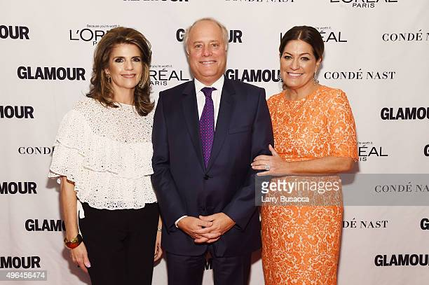 President of L'Oreal Paris Karen Fondu Conde Nast CEO Bob Sauerberg and Glamour Publisher Connie Anne Phillips attend 2015 Glamour Women Of The Year...