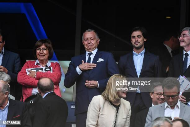 President of Lyon Jean Michel Aulas during the International friendly match between France and England at Stade de France on June 13 2017 in Paris...
