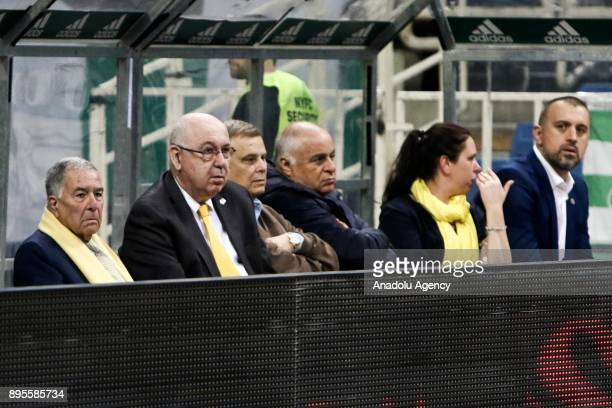 President of Maccabi Fox Tal Aviv Shimon Mizrahi is seen during the Turkish Airlines Euroleague basketball match between Panathinaikos Superfoods...