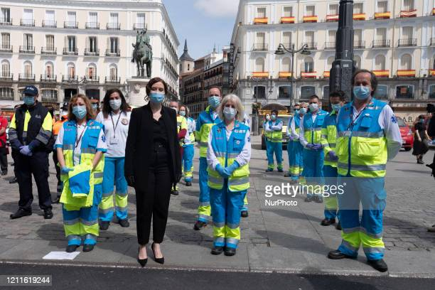 President of Madrid Community Isabel Diaz Ayuso attends the events of May 2 at Sol Square on May 02 2020 in Madrid Spain Spain continues to ease the...