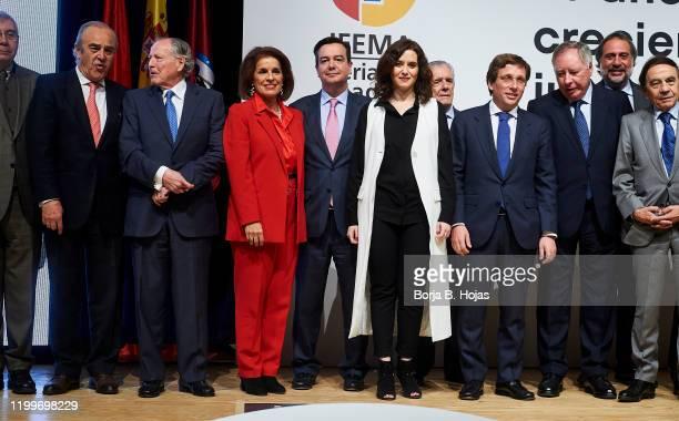 President of Madrid Community Isabel Diaz Ayuso, Madrid Mayor Jose Luis Martinez Almeida and Madrid former mayors Jose Maria Alvarez del Manzano,...