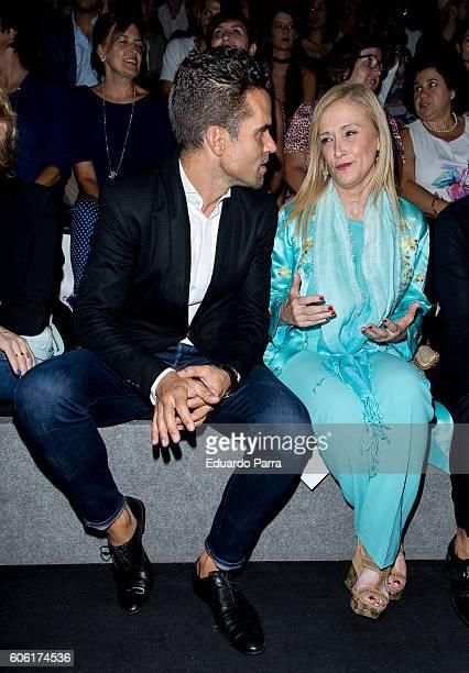 President of Madrid Cristina Cifuentes and dancer Antonio Najarro are seen attending MercedesBenz Fashion Week Madrid Spring/Summer 2017 at Ifema on...