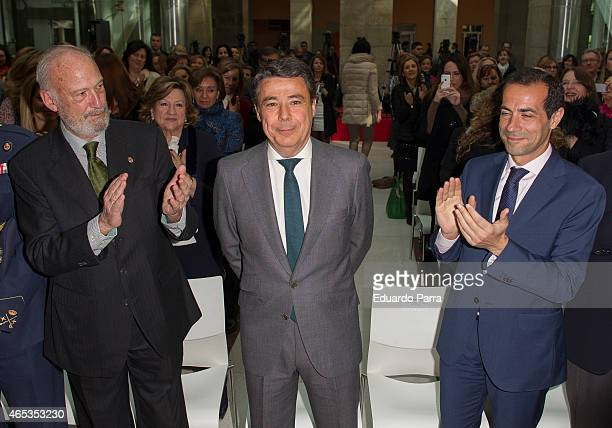 President of Madrid Ignacio Gonzalez attends the CAM awards for International Women Day at Real Casa de Correos on March 6 2015 in Madrid Spain