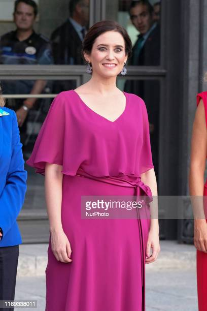 President of Madrid Isabel Diaz Ayuso attends Opera 'Don Carlo' At The Royal Theatre on September 18 2019 in Madrid Spain