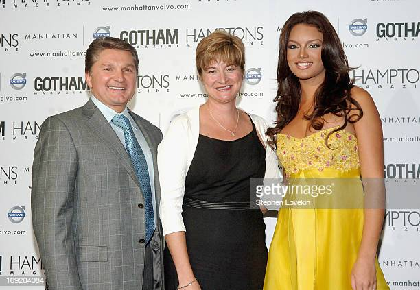 President of Manhattan Automobile Company Gary Flom President of Volvo North Amercia Anne Belec and former Miss Universe 2006 Zuleyka Rivera at the...