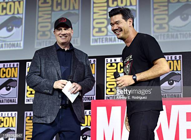 President of Marvel Studios Kevin Feige and director Destin Daniel Cretton of Marvel Studios' 'Shang-Chi and the Legend of the Ten Rings' at the San...