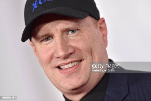 President of Marvel Studios Kevin Feige attends the premiere of Disney and Marvel's 'AntMan and the Wasp' at El Capitan Theatre on June 25 2018 in...