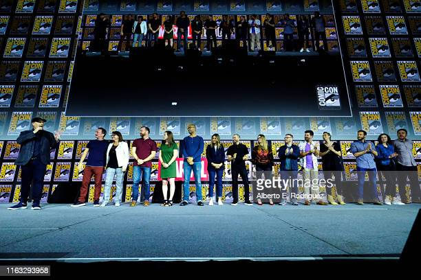 President of Marvel Studios Kevin Feige, Co-President of Marvel Studios Louis D'Esposito, Head of Physical Production at Marvel Studios Victoria...
