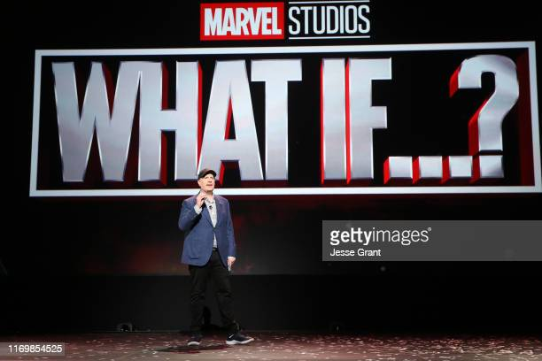 President of Marvel Studios Kevin Feige took part today in the Disney+ Showcase at Disney's D23 EXPO 2019 in Anaheim, Calif.