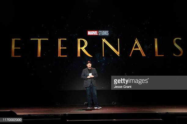 President of Marvel Studios Kevin Feige took part today in the Walt Disney Studios presentation at Disney's D23 EXPO 2019 in Anaheim, Calif.