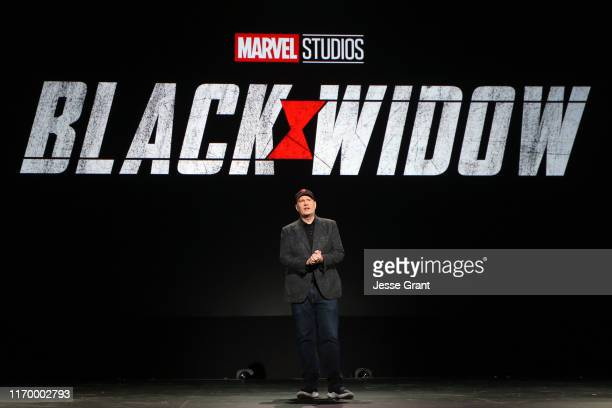 President of Marvel Studios Kevin Feige took part today in the Walt Disney Studios presentation at Disney's D23 EXPO 2019 in Anaheim Calif