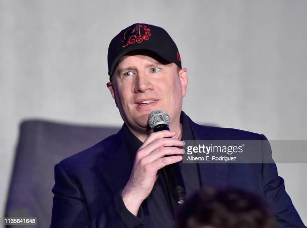 President of Marvel Studios/Producer Kevin Feige speaks onstage during Marvel Studios' Avengers Endgame Global Junket Press Conference at the...