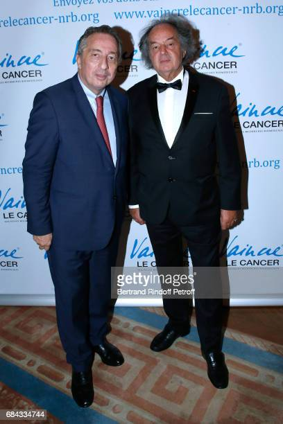 President of MBC Thomas Levet and Gonzague Saint Bris attend the Vaincre Le Cancer Gala 30th Anniverary at Cercle de l'Union Interalliee on May 17...