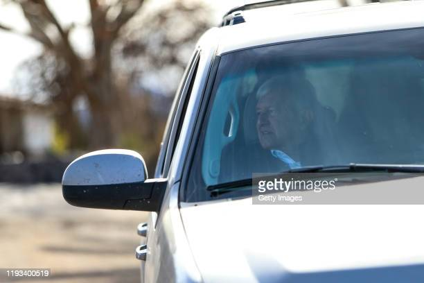 President of Mexico Andrés Manuel López Obrador looks on after a visit to La Mora on January 12 2019 in Bavispe Sonora President Lopez Obrador met...