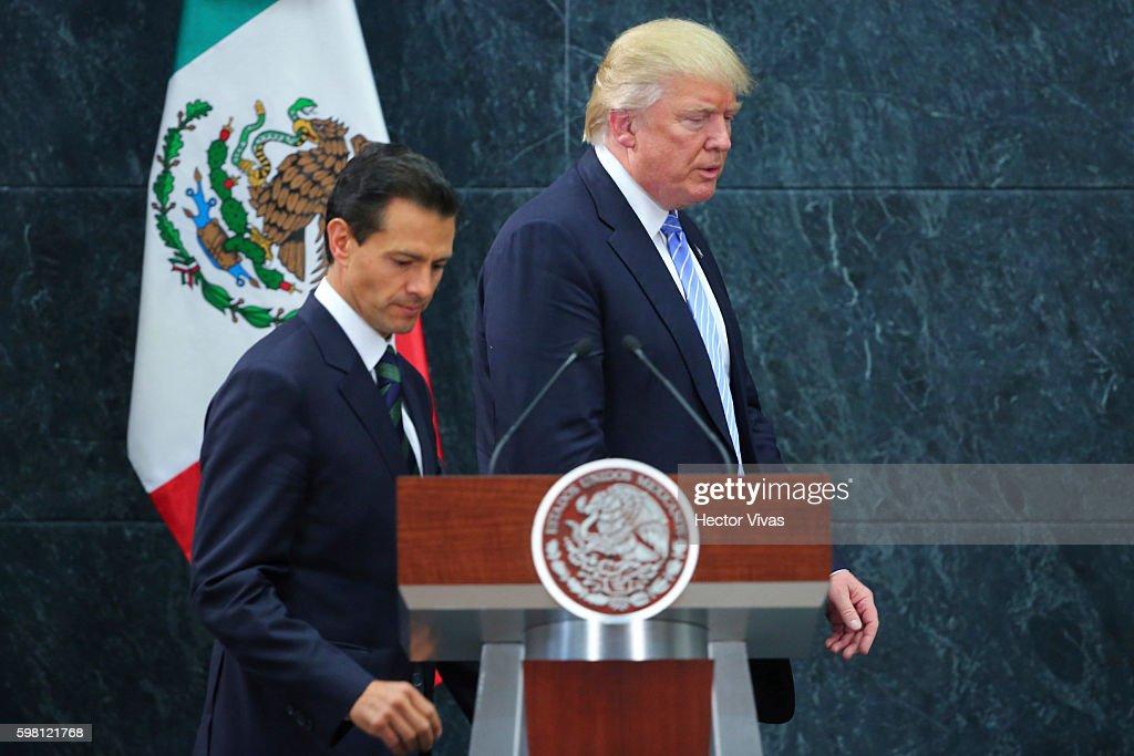 President Pena Nieto Receives Donald Trump : News Photo