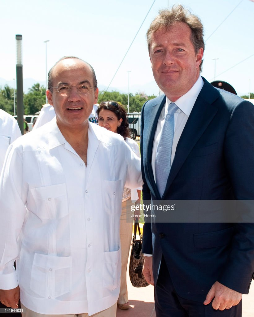 CNN's Piers Morgan Visits President Of Mexico Felipe Calderon